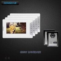 HOMSECUR 7 дюймов видео домофон Системы с Intra monitor Audio домофон для квартиры