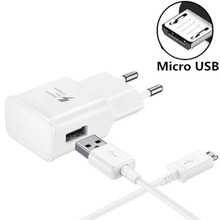 Fast Charger USB Power Adapter Quick Fast Charger For Samsung Galaxy S3 S4 Mini S5 Note 3 4+1M Micro USB Data Sync USB Cable цена