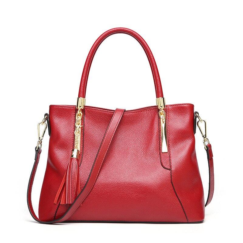 high quality women large capacity handbag genuine leather women shoulder bag zipper brand totes for lady