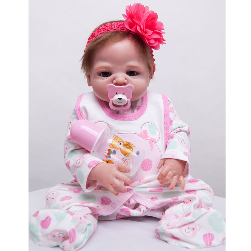 55cm Full Silicone Reborn Baby Doll Toy Real Touch 22inch Newborn Princess Toddler Babies Alive Doll With Pacifier Girl Bonecas55cm Full Silicone Reborn Baby Doll Toy Real Touch 22inch Newborn Princess Toddler Babies Alive Doll With Pacifier Girl Bonecas