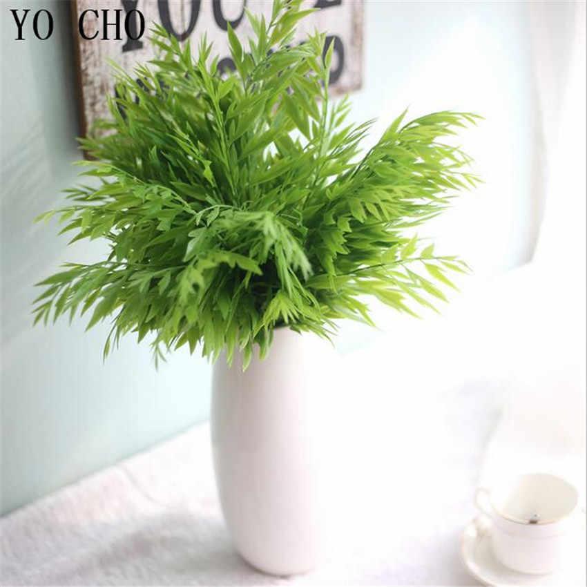 YO CHO Pakis Dinding Pohon Anggur Bunga Palsu Aquatic Grass Pernikahan Dekorasi Rumah Nyata Sentuh Maple Tinggalkan Tanaman Buatan Pohon Vergreen