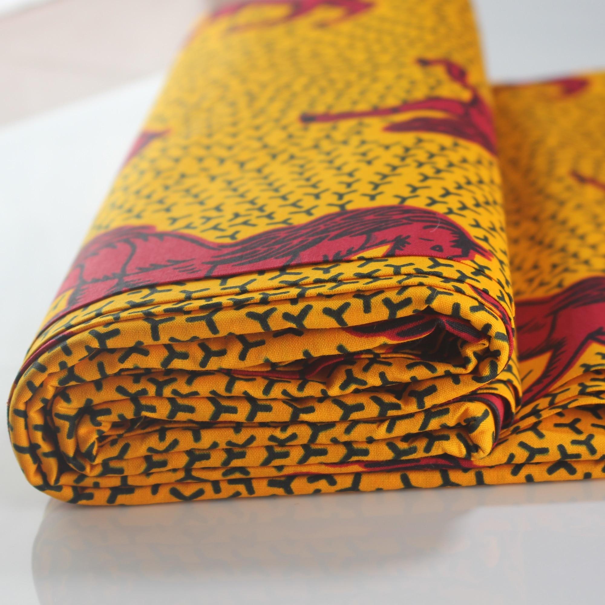 African Fabrics African Print Fabric 6 Yards Latest Veritable Wax Guaranteed Real Dutch Wax For Women