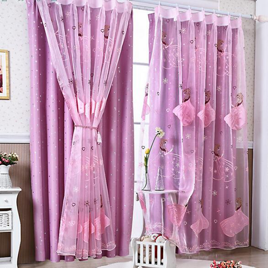 Cartoon Sailing Ship Design Shading Curtain Blackout: Princess Curtain Children's Cartoon Curtains Girl Princess