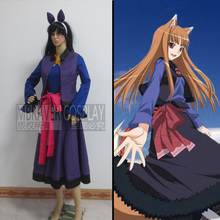 Freeshipping Holo Cosplay (2nd) from Spice and Wolf as Halloween Christmas cosplay costume