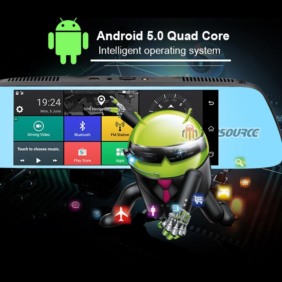 TOPSOURCE 7 '' Special Car DVR Camera Mirror Android 5.0 Nawigacja - Elektronika Samochodowa - Zdjęcie 2