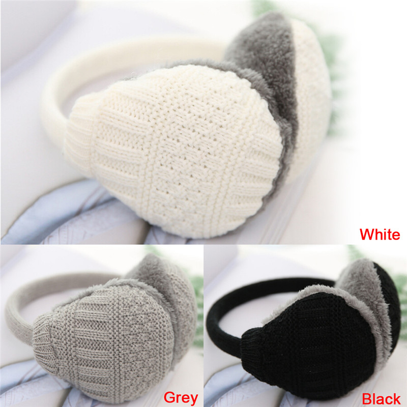 1PCS Winter Warm Knitted Earmuffs Children Ear Muffs For Boy Earmuffs For Girls Baby Gift Ear Warmers 3 Colors