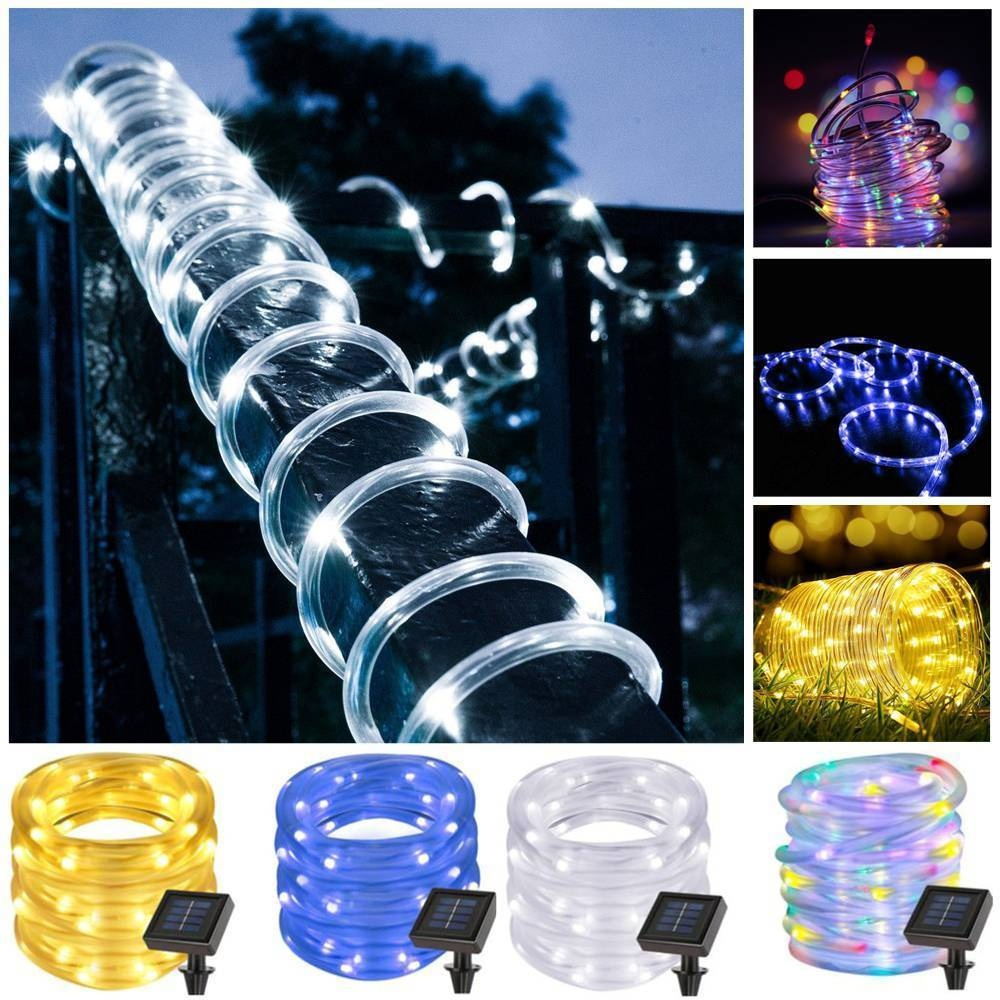 7M 12M LED Outdoor Solar Lamp LEDs String Lights Fairy Holiday Christmas Party Garland Solar Garden Waterproof Lights