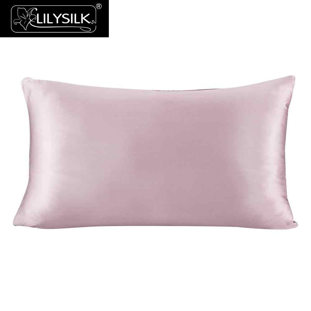 LilySilk Pure 100 Silk Pillowcase Hair With Hidden Zipper 19 Momme Terse Color For Women Men Kids Girls Free shipping