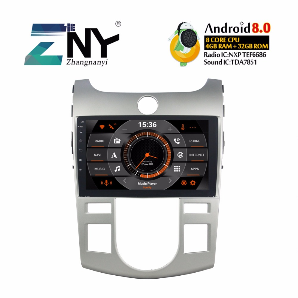 "Android 8.0 Car GPS Autoradio For Kia Forte Cerato 2008-2012 9"" IPS Display Multimedia FM RDS BT WIFI Audio Video Stereo 4+32GB"