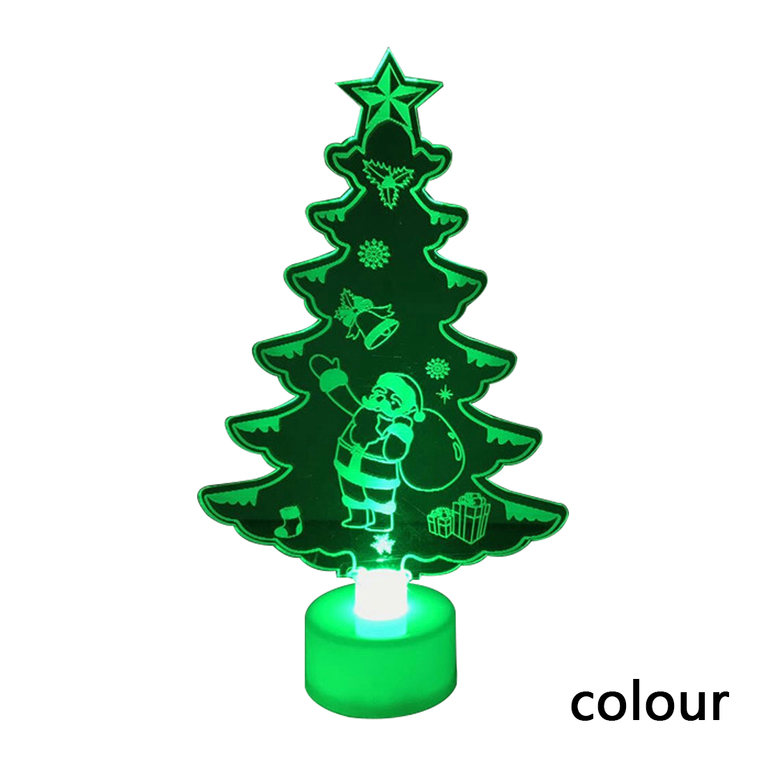 Hot Sale 1PC Acrylic LED Mini Christmas Tree Pine Christmas ...