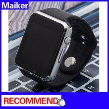 บลูทูธสมาร์ทนาฬิกาA1สำหรับการสนับสนุนทางโทรศัพท์แอปเปิ้ลหุ่นยนต์SMI/TFนาฬิกาข้อมือผู้ชายr eloj intel lgent s mart w atch