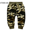 New 2016 Spring&Autumn Children Camouflage Pants Newborn Baby Boy Girl Pants Baby Clothing Elastic Waist Casual Trousers XL67