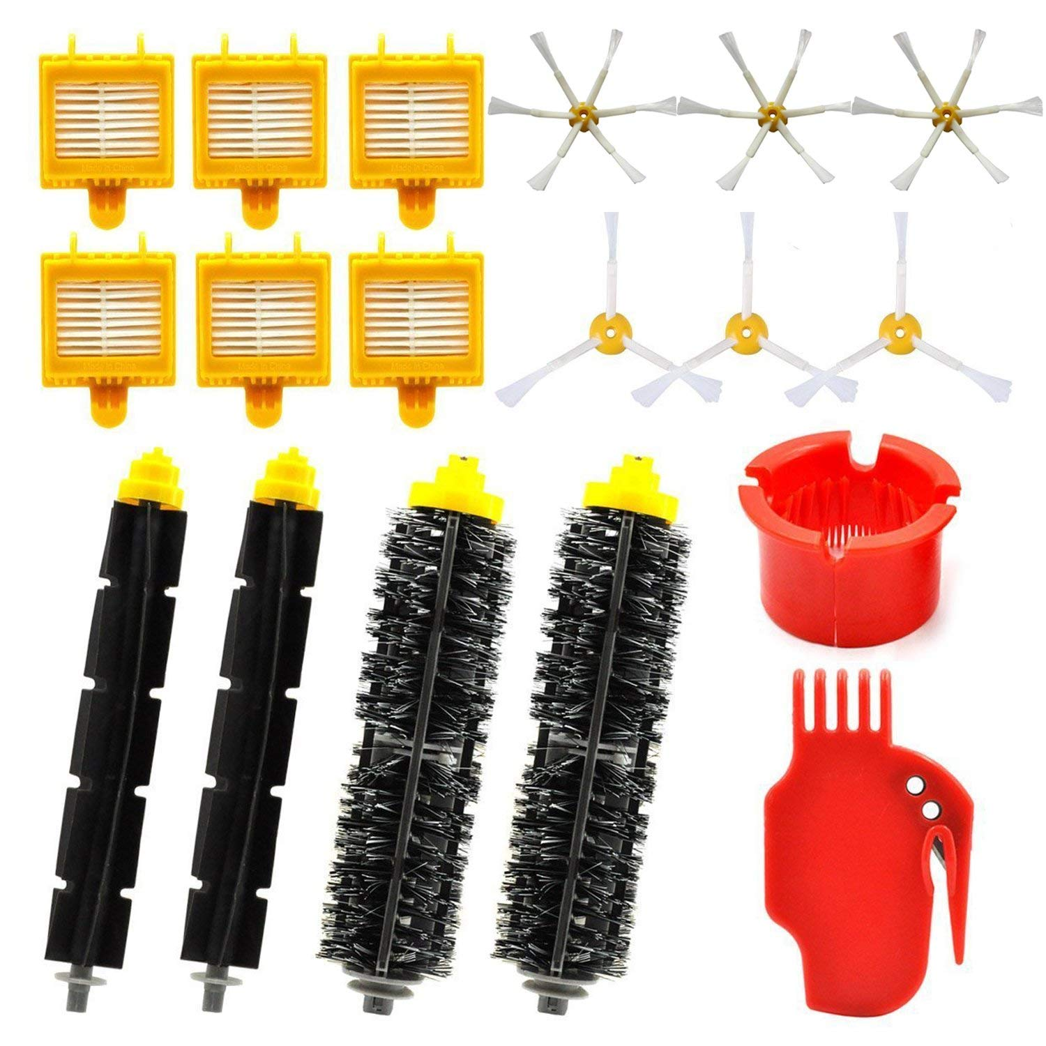 vacuum cleaner parts Replacement Parts Kit for iRobot Roomba 700 Series - Accessories Kit for Roomba 760 770 780 790 (18 in 1) 2 pcs hepa filter replacement kit for irobot roomba 700 series 750 760 770 780 790 robot vacuum cleaner parts accessories filter