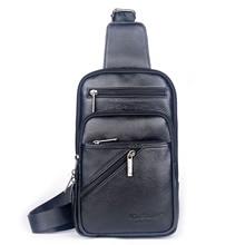 New Arrival Men Chest Bag 100% Genuine Leather Men Bag Brand Designer Leather Messenger Bags Casual Mens Crossbody Bags