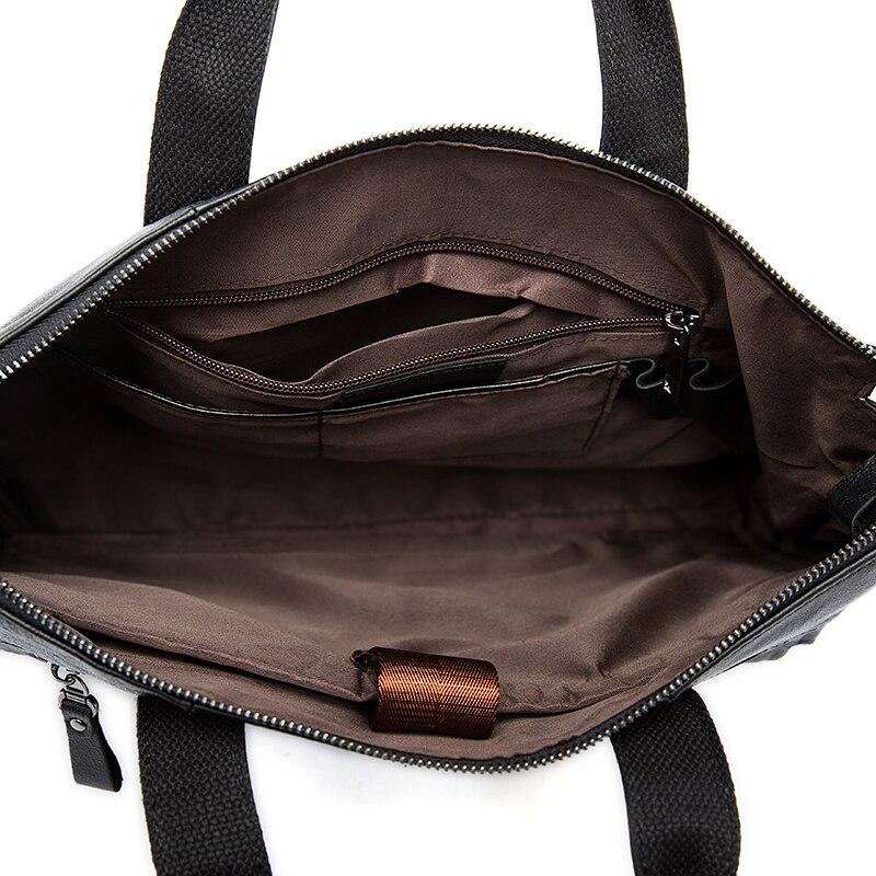 Bagaj ve Çantalar'ten Üstten Saplı Çanta'de WESTAL Evrak Çantası Erkek deri çantalar Hakiki Deri Laptop Crossbody Çanta Erkekler Için Messenger omuzdan askili çanta Iş 9103'da  Grup 3