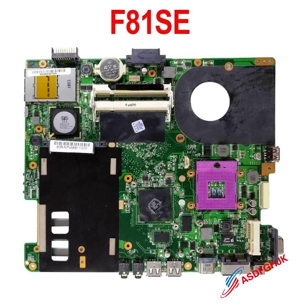 FOR ASUS F80L F81SE F83SE F80Q F80S F5Z F5RL Laptop Motherboard F81SE Mainboard 100% TESED OK