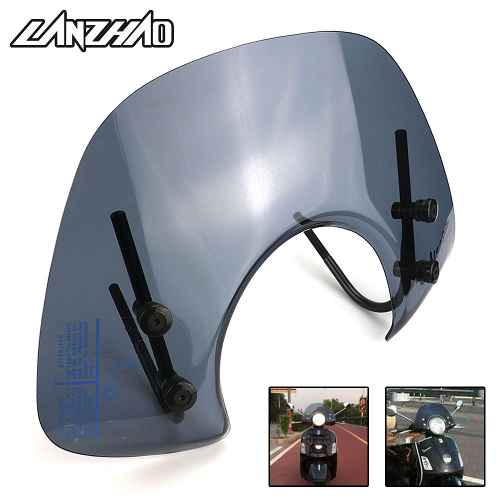 Motorcycle Windshield Windscreen Air Deflector Smoke Black Scooter Accessories for Piaggio Vespa GTS 125 250 300