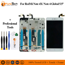 For Xiaomi redmi note 4X Note 4 Global Version LCD screen display with frame Snapdragon 625 For xiaomi redmi Note 4x Lcd цена и фото