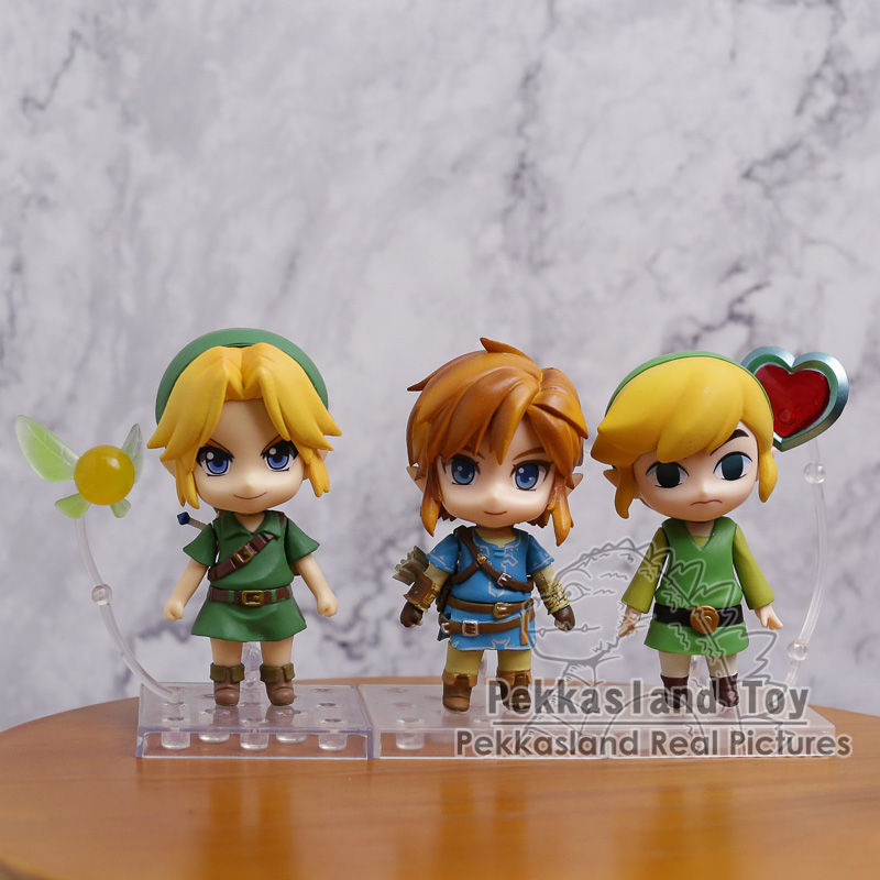 Nendoroid Legend of Zelda Link 733 / 553 / 413 PVC Action Figure Collectible Model Toy anime the legend of zelda action figure link fighting ver link doll pvc figure collectible model toy 30cm kt3647