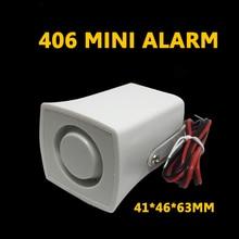 Mini sirene de alarme de buzina, alarme de som 105db dc 12v sirene com fio para casa sistema de alarme