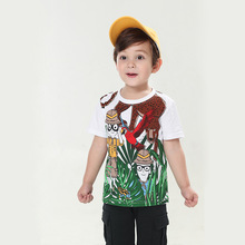 2019 KIDS SUMMER T SHIRTS JUNGLE KIDS TOPS FUNNY T SHIRTS BOYS TOPS BABY BOY CLOTHES TODDLER SHIRTS недорого