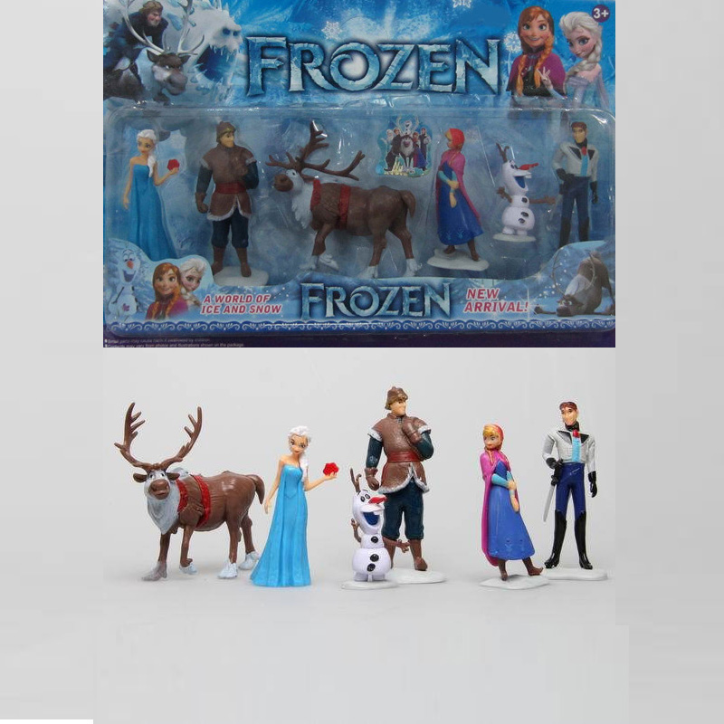 Disney Toys For Kids 6 Pcs/Set Cartoon Action Figures Frozen Anime Fashion Figures Juguetes Anime Models Tq0127 6pcs set disney trolls dolls action figures toys popular anime cartoon the good luck trolls dolls pvc toys for children gift