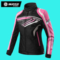 2016 Original SCOYCO Motorcycle Jacket Body Armor Racing Women Breathable Spring Autumn Jaqueta Motoqueiro Jaqueta Feminina