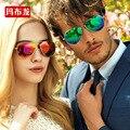 Luxo colorido chapeamento lente polaroid óculos de sol amante óculos boa qualidade confortável pena luz óculos de sol 3025