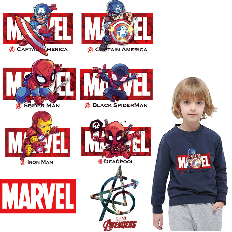 marvel ironing stickers superman <font><b>ironman</b></font> <font><b>patches</b></font> for clothing jacket <font><b>patch</b></font> iron on transfer for t-shirt diy <font><b>patch</b></font> super quality image