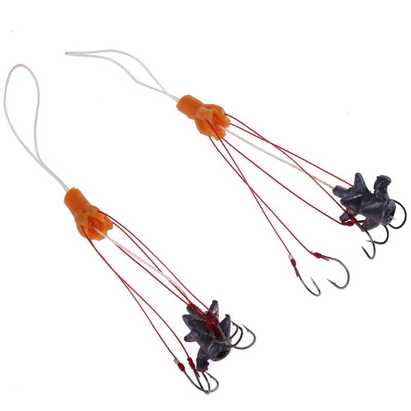 2pcs/lot Carp Fishing Explosive Hooks with 5 High Carbon Steel ISE Hook Lead Sinker Sharp Fishing Tackle Jig Hooks Set ...