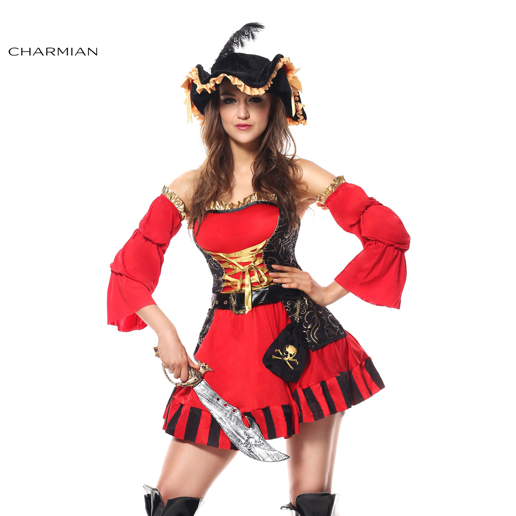 charmian halloween costume for women spanish pirate halloween carnival oktoberfest cosplay costume fantasias feminina para festa - Pirate Halloween Costumes Women