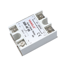 SSR-40DA/40VA 40A Solid State Relay Module 24-380VAC  Aluminum Heat Sink relays DC control Single phase Solid State relays