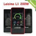 Original Electronic Cigarette Mods Laisimo L1 200W TC Box Mod Bluetooth 4.0 Mod Laisimo L1 Mod VS Kbox 200W mod 1PC YY