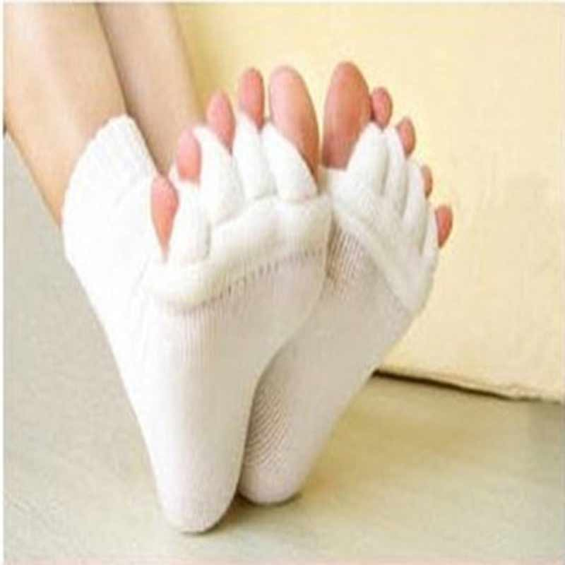 1Pair Foot Massager Toe Socks Finger Separator Massage Sleeping Health Foot Care Relaxing Compression Sock Foot Feet Pain Relief 1pair free size toe straightener big toe spreader correction of hallux valgus pro toe corrector orthopedic foot pain relief