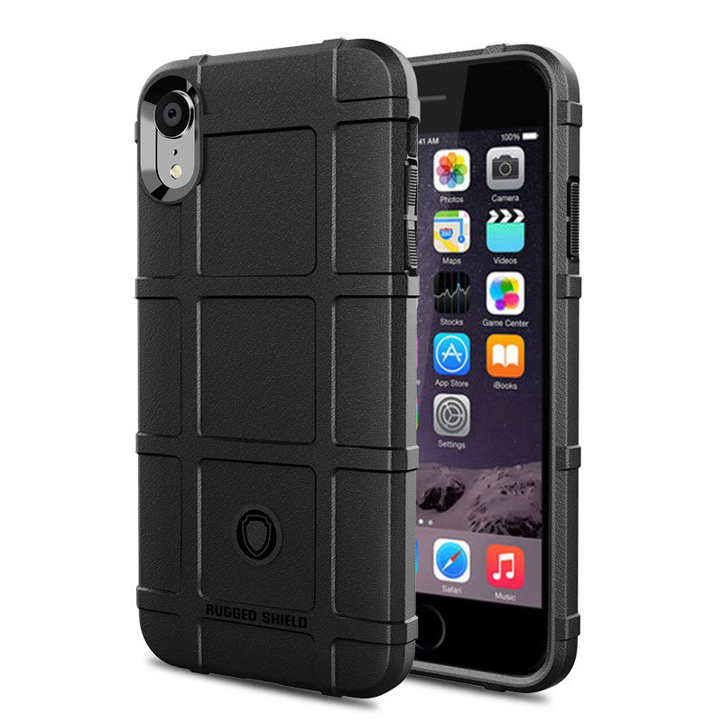 Xs Army Armor Anti shock Cases for iPhone Xs Max Xr Case Cover Soft Bumper Anti Slip Cases for