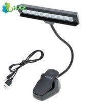 Esnek Ayarlanabilir LED Kitap Okuma Işığı Mini USB Klip-on Orkestrası için LED Masa Masa Çalışma Lambası 9 LEDs müzik Standı
