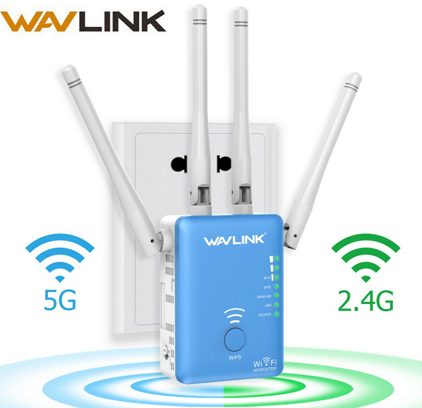 Wavlink Wireless Wifi Repeater Router 1200mbps 2 4G 5G Dual Band Wifi Signal Amplifier AP Signal
