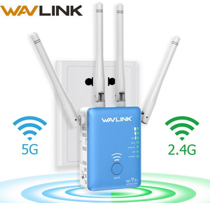 Wavlink Беспроводной Wi-Fi ретранслятор/маршрутизатор 1200 Мбит/с 2,4 г и 5 г Dual Band Wi-Fi усилитель сигнала AP усилитель сигнала сети Range Extender