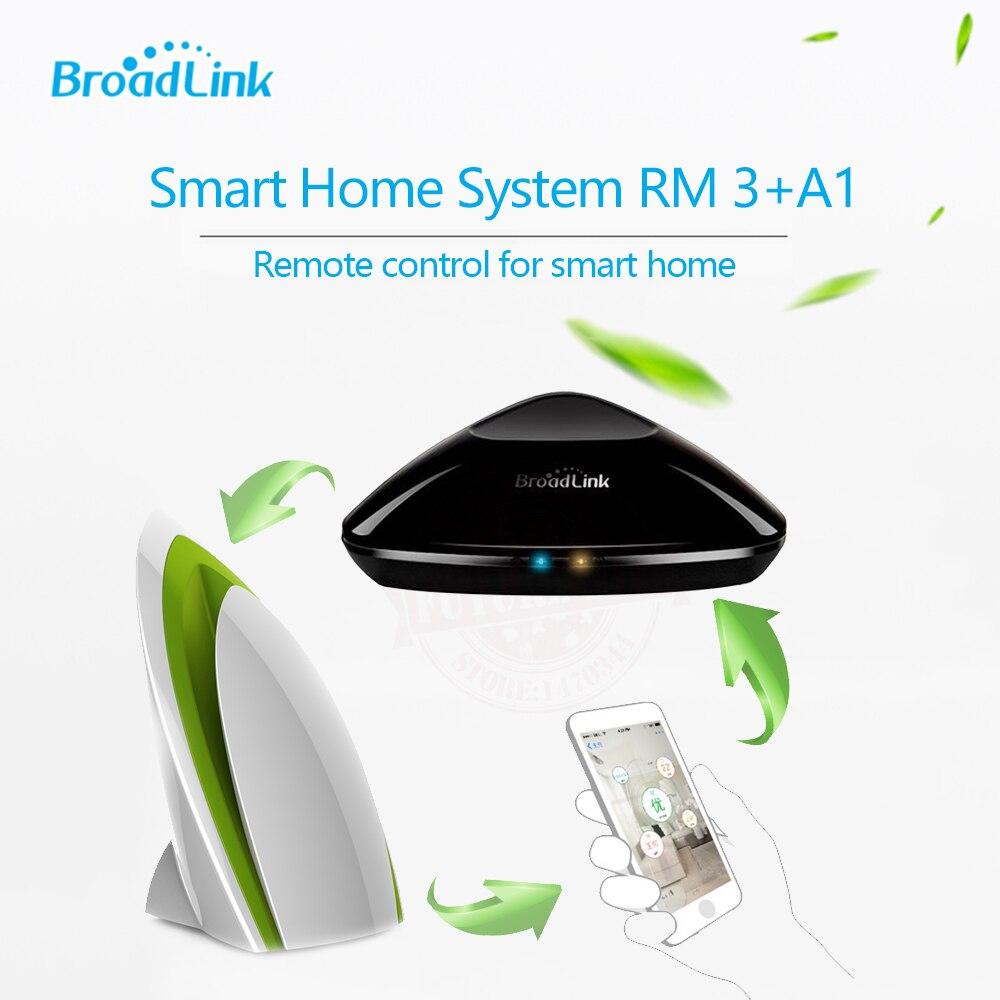 Broadlink RM Pro + A1 RM3 Contol Remoto IR + RF Detector de Qualidade do Ar Do Sensor inteligente, Automação Residencial Inteligente sistema para IOS Android