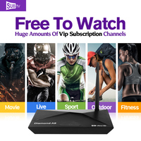 Dalletektv A9 Smart Android TV Box 2G+16G Media Player HD SUBTV iptv Europe arabic Channel subscription 1 year French UK STB