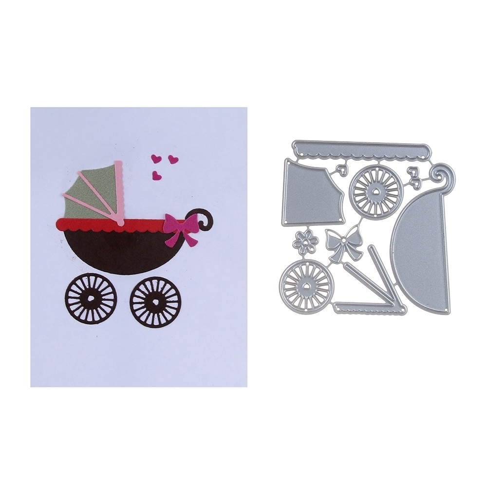 70*70mm scrapbooking Loving retro floats Shape Metal steel cutting die rickshaw Shape Book photo album art card Dies Cut