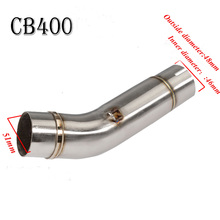 Motorcycle Exhaust Middle Pipe Case For Honda CB400 Without Exhaust Stainless Steel TZD400