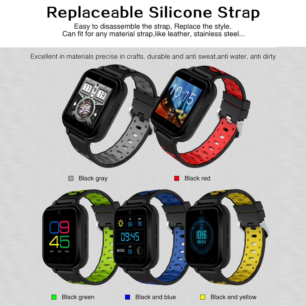 Q1Pro Android6.0 4G Phone Call 1G RAM 8G ROM GPS WIFI IP67Waterproof Smart Watch Electronic clock feminino digital smart