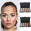 15 cores creme maquiagem rosto Kit de contorno destaque corretivo paleta Bronzer com Blender beleza cosméticos Set para todos disponíveis