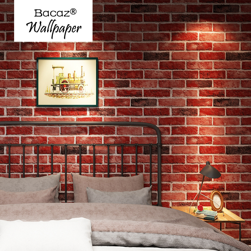 все цены на 3d Bricks Wallpaper Rolls for bedroom Bar Coffee Restaurant 3D Papel Parede 3d wall paper Roll for Living Room 3d Wallcoverings