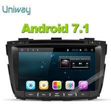 Uniway 2G + 32G android 7.1 de dvd del coche para kia sorento 2013 2014 radio de coche navegación gps con control del volante