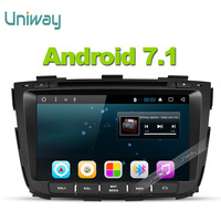 uniway 2G+32G android 7.1 car dvd for kia sorento 2013 2014 car radio gps navigation with steering wheel control