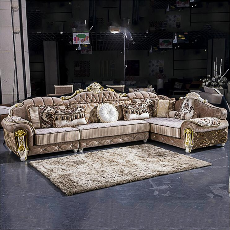 Living Room Furniture Modern Fabric Sofa European Sectional Sofa Set A1274