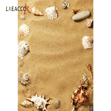 Laeacco Tropical Sea Beach Sand Shell Starfish Holiday Baby Child Photographic Background Photography Backdrops For Photo Studio