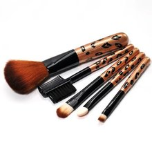5 pcs/set Durable Makeup Brushes Tool Set Cosmetic Powder Eye Shadow Foundation Blush Blending Beauty Make Up Brush Maquiagem